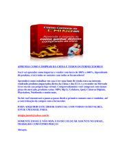 Compre Barato da China - LOJA OFICIAL - Comprar.doc