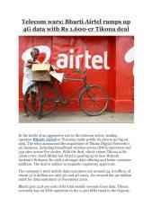 Telecom wars- Bharti Airtel ramps up 4G data with Rs 1,600-cr Tikona deal.pdf