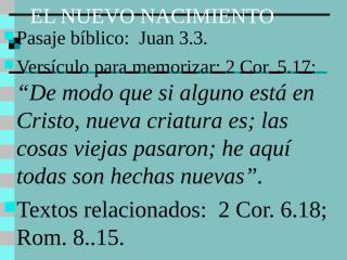 2- El Nuevo Nacimiento..ppt