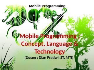 Mobile Programming - 1 (1).ppt
