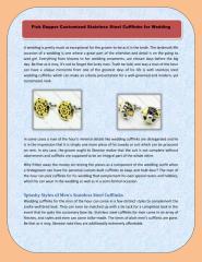 Pick Dapper Customized Stainless Steel Cufflinks for Wedding.pdf