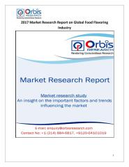 2017 Market Research Report on Global Food Flavoring Industry.pdf