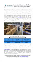 Cardboard Boxes are the First Choice for Many Industries.pdf