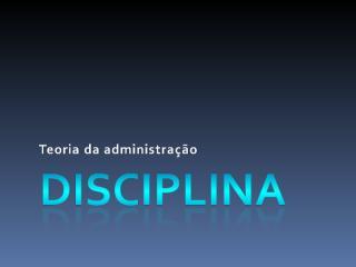 Disciplina.ppt
